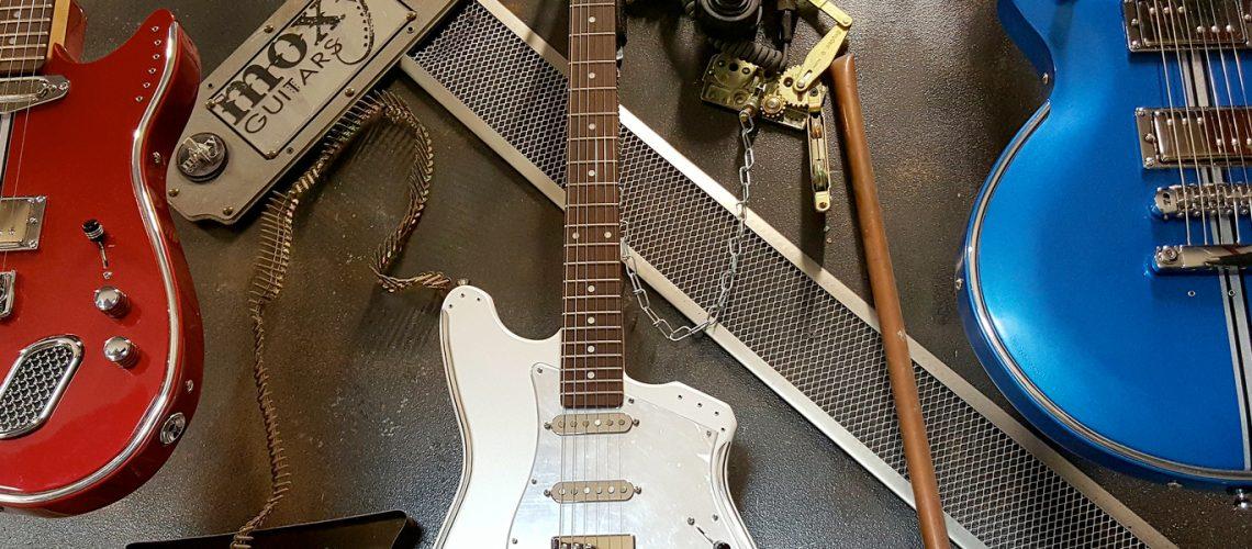Moxy Guitars KC Juniper, ME Tuscany, AJ Spirit Models in the